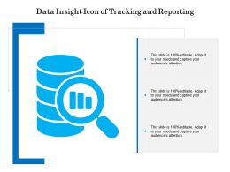 Data Insight Icon Of Tracking And Reporting