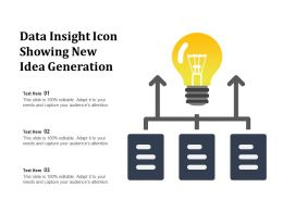 Data Insight Icon Showing New Idea Generation