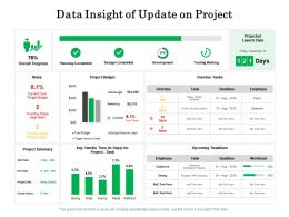Data Insight Of Update On Project