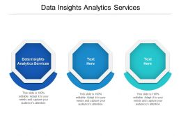 Data Insights Analytics Services Ppt Powerpoint Presentation Pictures Design Ideas Cpb