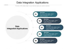 Data Integration Applications Ppt Powerpoint Presentation Summary Template Cpb