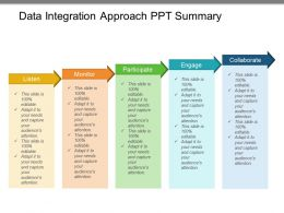Data Integration Approach Ppt Summary