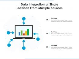 Data Integration At Single Location From Multiple Sources