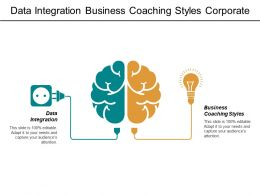 Data Integration Business Coaching Styles Corporate Governance Graph Business Cpb