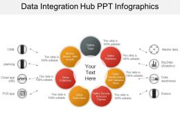 Data Integration Hub Ppt Infographics
