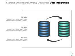 Data Integration Icon Cloud Computer Gear Storage Arrows Square Puzzle
