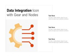 Data Integration Icon With Gear And Nodes