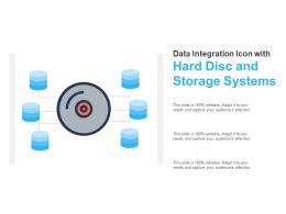 Data Integration Icon With Hard Disc And Storage Systems