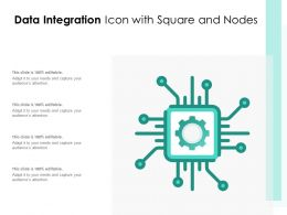 Data Integration Icon With Square And Nodes