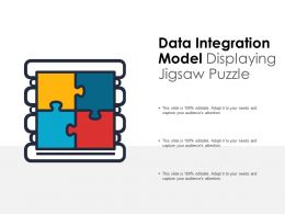 Data Integration Model Displaying Jigsaw Puzzle