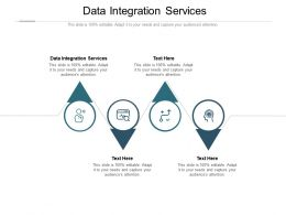 Data Integration Services Ppt Powerpoint Presentation Show Structure Cpb