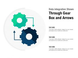 Data Integration Shown Through Gear Box And Arrows