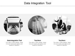 Data Integration Tool Ppt Powerpoint Presentation Icon Picture Cpb