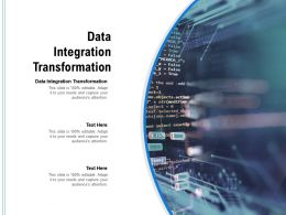 Data Integration Transformation Ppt Powerpoint Presentation Model Graphics Tutorials Cpb