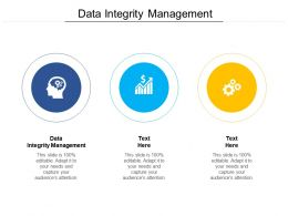 Data Integrity Management Ppt Powerpoint Presentation Professional Cpb