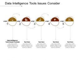 Data Intelligence Tools Issues Consider Ppt Powerpoint Presentation Icon Clipart Images Cpb