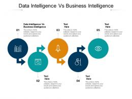 Data Intelligence Vs Business Intelligence Ppt Powerpoint Presentation File Themes Cpb