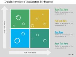 Data Interpretation Visualization For Business Flat Powerpoint Design