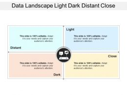 Data Landscape Light Dark Distant Close