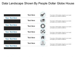 Data Landscape Shown By People Dollar Globe House