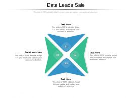 Data Leads Sale Ppt Powerpoint Presentation File Themes Cpb