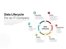 Data Lifecycle For An IT Company