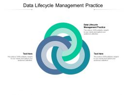Data Lifecycle Management Practice Ppt Powerpoint Presentation Professional Gallery Cpb