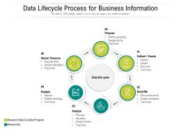 Data Lifecycle Process For Business Information