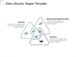 Data Lifecycle Stages Template Ppt Powerpoint Presentation Infographics Example Topics Cpb
