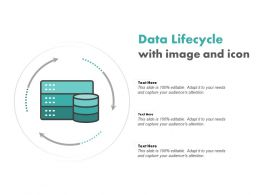 Data Lifecycle With Image And Icon