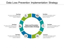 Data Loss Prevention Implementation Strategy Ppt Powerpoint Presentation Slides Cpb