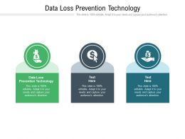 Data Loss Prevention Technology Ppt Powerpoint Presentation Slides Visuals Cpb
