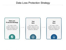 Data Loss Protection Strategy Ppt Powerpoint Presentation Outline Smartart Cpb