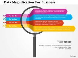 Data Magnification For Business Flat Powerpoint Design