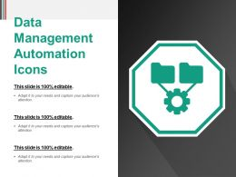 Data Management Automation Icons Powerpoint Slide Deck