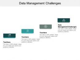 Data Management Challenges Ppt Powerpoint Presentation Model Gridlines Cpb