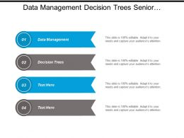 Data Management Decision Trees Senior Management Meeting Invitation Cpb
