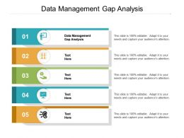 Data Management Gap Analysis Ppt Powerpoint Presentation Summary Elements Cpb