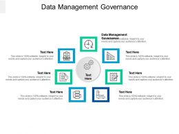 Data Management Governance Ppt Powerpoint Presentation Model Design Ideas Cpb