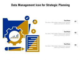 Data Management Icon For Strategic Planning