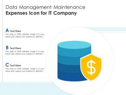 Data Management Maintenance Expenses Icon For IT Company