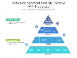 Data Management Maturity Pyramid With Processes