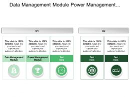 Data Management Module Power Management Module Reporting System