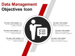 Data Management Objectives Icon Ppt Images Gallery