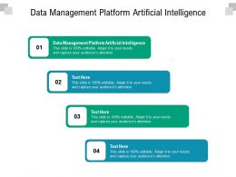 Data Management Platform Artificial Intelligence Ppt Powerpoint Presentation Icon Template Cpb