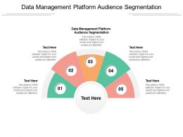 Data Management Platform Audience Segmentation Ppt Powerpoint Presentation Slides Infographics Cpb
