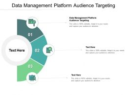 Data Management Platform Audience Targeting Ppt Powerpoint Presentation Slides Icon Cpb