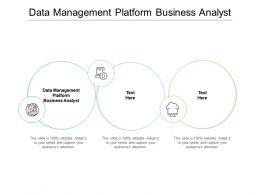 Data Management Platform Business Analyst Ppt Powerpoint Presentation Summary Shapes Cpb