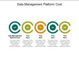 Data Management Platform Cost Ppt Powerpoint Presentation Pictures Slideshow Cpb