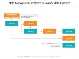 Data Management Platform Customer Data Platform Ppt Powerpoint Presentation Gallery Rules Cpb